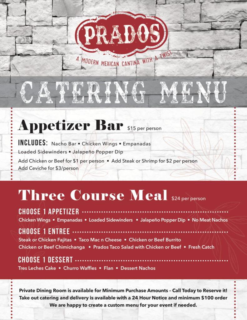 Prados Catering Menu